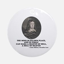Milton Heaven of Hell Paradise Lost Quote Round Or