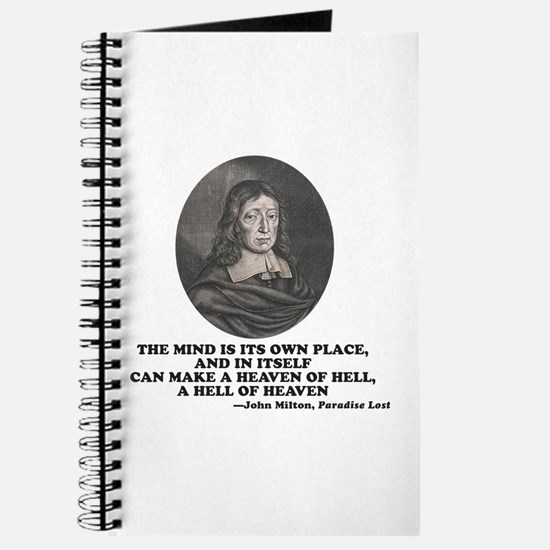 Milton Heaven of Hell Paradise Lost Quote Journal