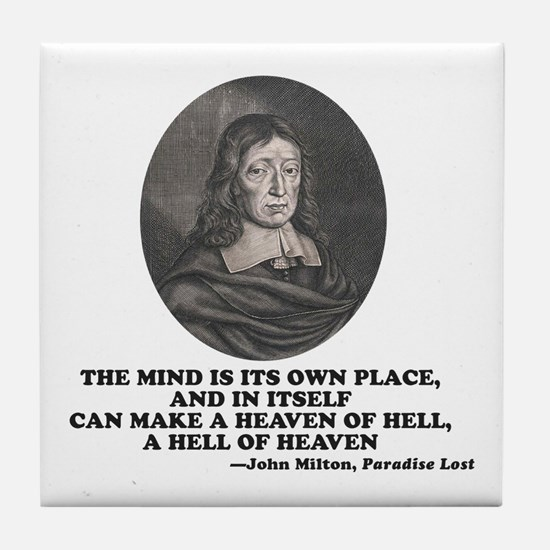 Milton Heaven of Hell Paradise Lost Quote Tile Coa