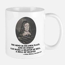 Milton Heaven of Hell Paradise Lost Quote Mugs