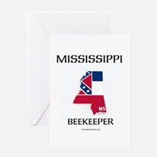 Mississippi Beekeeper Card Greeting Cards