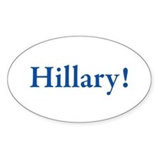 Hillary! Oval Decal