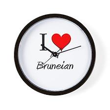 I Love My Bruneian Wall Clock