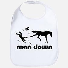 man down horseshoer Bib
