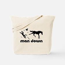 man down horseshoer Tote Bag