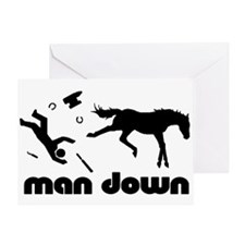 man down horseshoer Greeting Card
