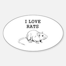 I Love Rats Decal
