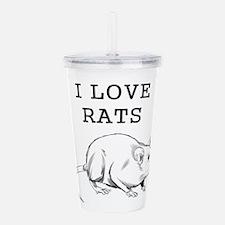 I Love Rats Acrylic Double-wall Tumbler