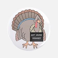 """Vegetarian Turkey 3.5"""" Button (100 pack)"""
