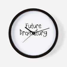 Future Dramatist Wall Clock