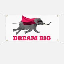 Flying Elephant - Dream big Banner
