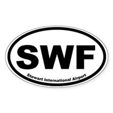 Stewart International Airport Oval Decal