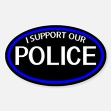 Police: I Support Our Police Oval Decal