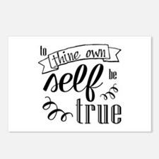 To Thing Own Self Be True Postcards (package Of 8)