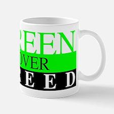 Green Over Greed Mugs