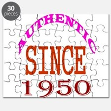 Authentic Since 1950 Birthday Designs Puzzle