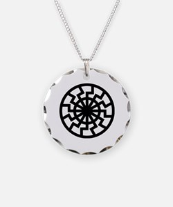 Cute Black sun Necklace