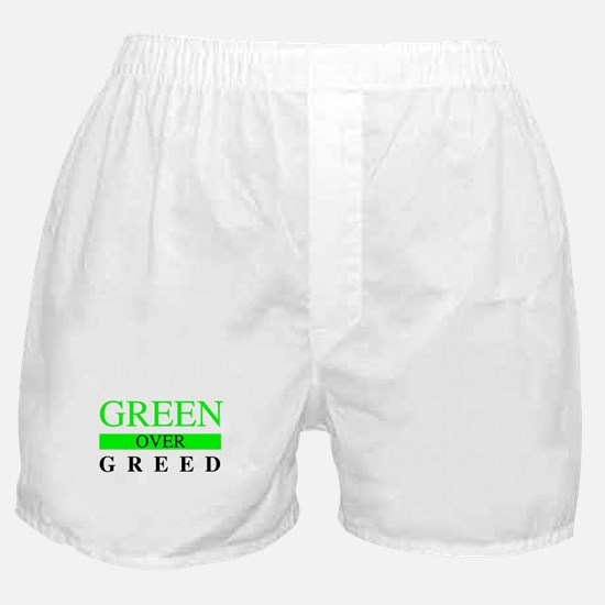 Green over Greed Boxer Shorts