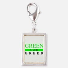 Green over Greed Charms