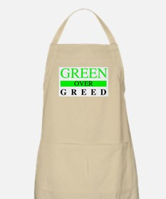 Green over Greed Apron