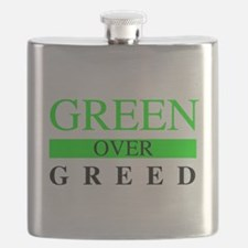 Green over Greed Flask