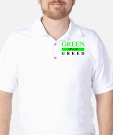 Green over Greed Golf Shirt
