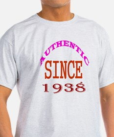 Authentic Since 1938 Birthday Design T-Shirt