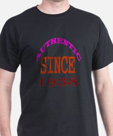 Authentic Since 1938 Birthday Designs T-Shirt