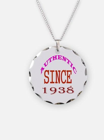 Authentic Since 1938 Birthda Necklace