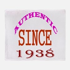 Authentic Since 1938 Birthday Design Throw Blanket