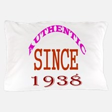 Authentic Since 1938 Birthday Designs Pillow Case
