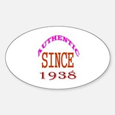 Authentic Since 1938 Birthday Desig Decal