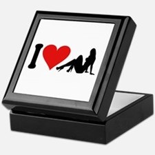 I Love Strippers (design) Keepsake Box