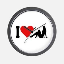 I Love Strippers (design) Wall Clock