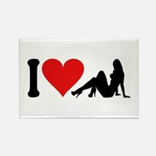 I Love Strippers (design) Rectangle Magnet