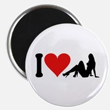 "I Love Strippers (design) 2.25"" Magnet (10 pack)"