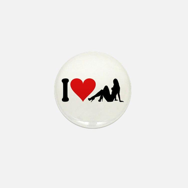 I Love Strippers (design) Mini Button