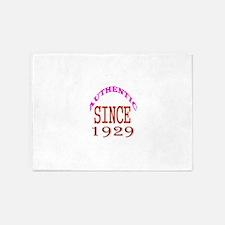 Authentic Since 1929 Birthday Desig 5'x7'Area Rug
