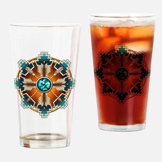 Cute Native american art Drinking Glass