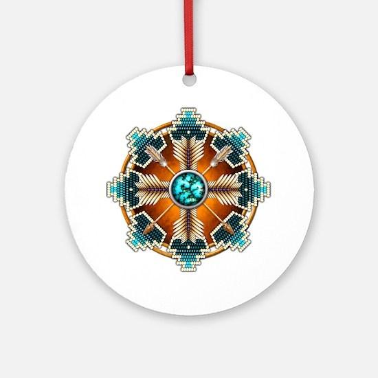 Unique Native art Round Ornament