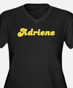 Adriene Fancy (Gold) Women's Plus Size V-Neck Dark
