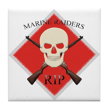 RIP Marine Raiders Tile Coaster