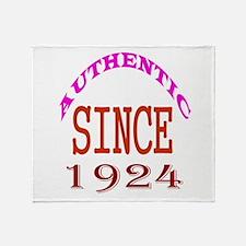 Authentic Since 1924 Birthday Design Throw Blanket