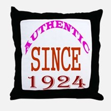 Authentic Since 1924 Birthday Designs Throw Pillow