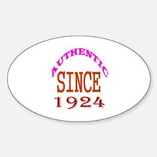 Authentic Since 1924 Birthday Desig Decal