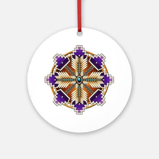 Cool Native art Round Ornament