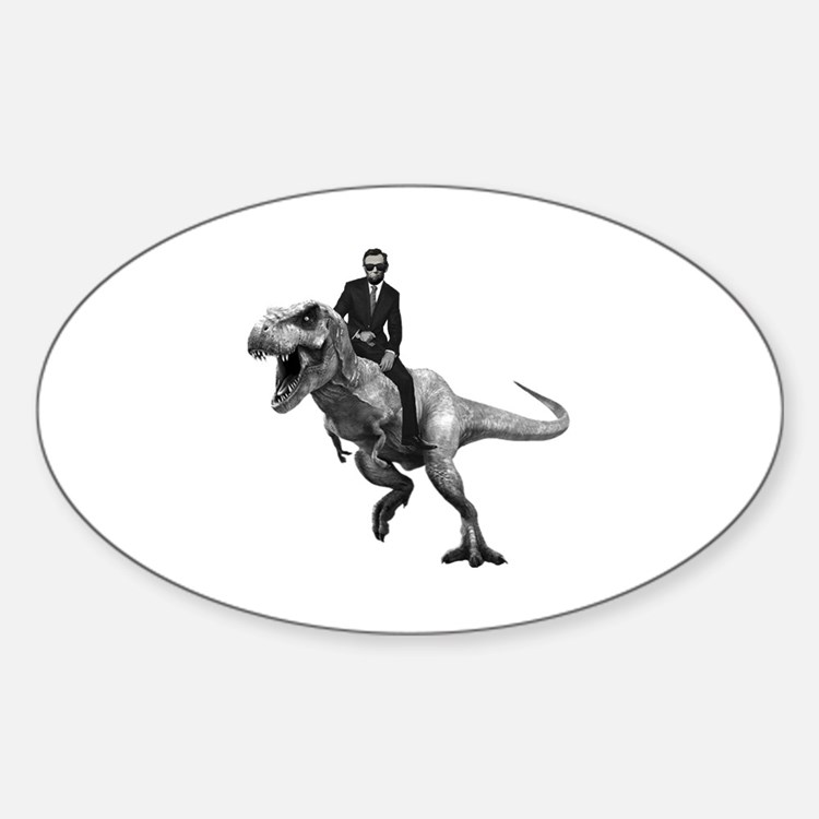 Cute Abe lincoln Sticker (Oval)