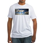 Somewhere, over the rainbow.. Fitted T-Shirt