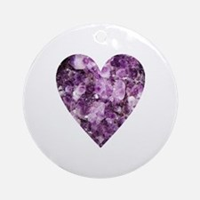 Cute Crystals Round Ornament