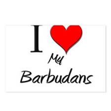 I Love My Barbudans Postcards (Package of 8)